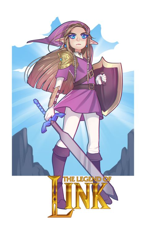 The Legend of Link... with the Heroic Zelda.... YES --- I knowits not really genderbend but come on!!! so much yes!!!