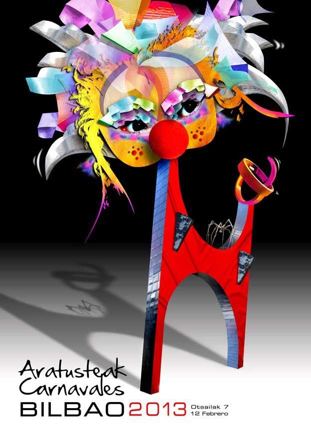 """Lehoi"" ha sido elegido cartel anunciador de los Carnavales Aratusteak Bilbao 2013. El autor de la obra es César Núñez Álvarez. Zorionak!  --------------------------->  ""Lehoi"" kartela iragarriko du aurtengo Bilboko Aratusteak. Egilea César Núñez Álvarez da. Zorionak!"