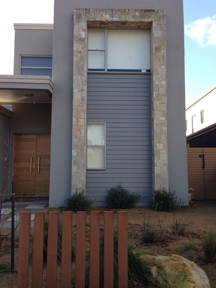 Almond quartzite french cut facade, supplied and installed by Stone 101. www.stone101.com.au