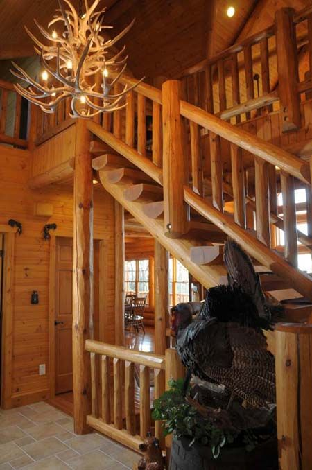 Log Cabin Chandelier Of Antler Chandelier