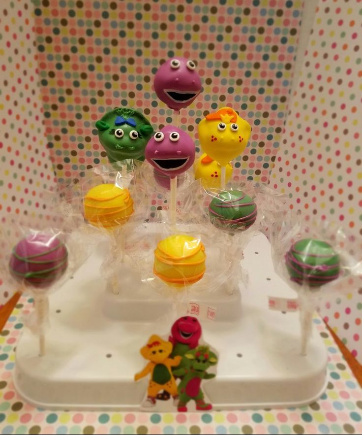 barney cake pops - photo #11