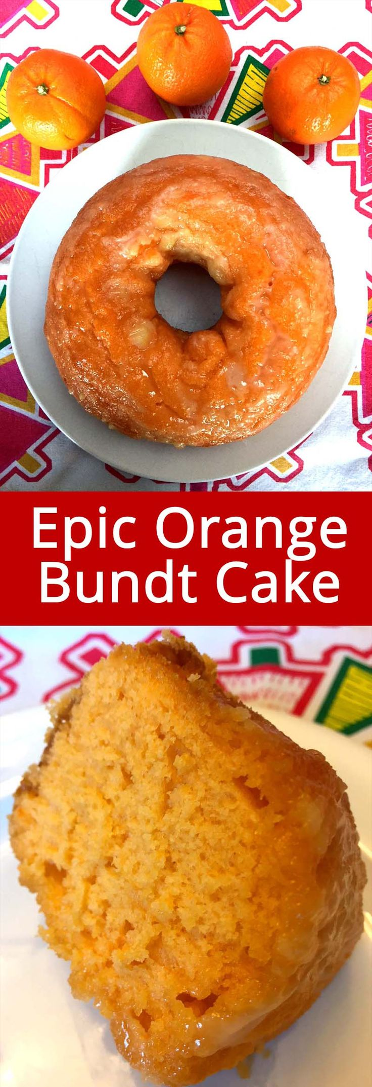 This easy orange bundt cake recipe is amazing! Made totally from scratch, no cake mix and really easy to make! So moist and delicious, and you can taste the orange flavor in every bite!