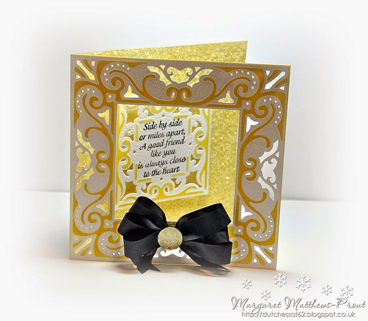 dutchess: Crafters companion card creator.....Decadance....