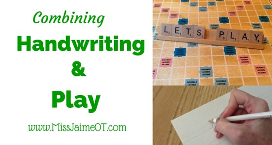 There are many ways to combine Handwriting and Play. Handwriting games are a great way to reinforce proper letter formation, spacing, and size.