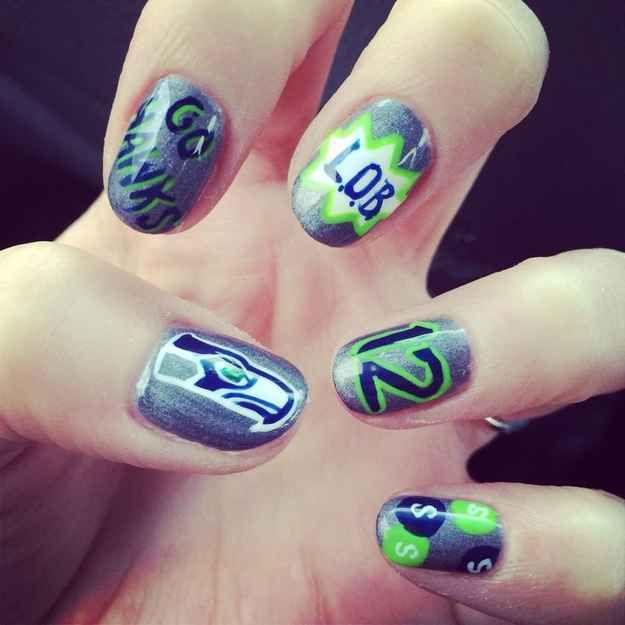 12 Manicures For Super Bowl XLVII