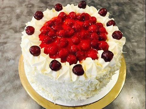 White Forest Cake Recipe | Complete Cake Baking And Cake Decorating Video - YouTube