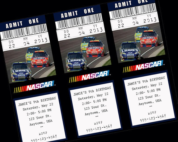 48 best NASCAR party images – Nascar Birthday Invitations