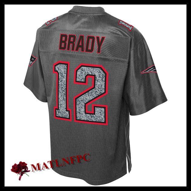 Maillot NFL New England Patriots pas cher, Maillots NFL Tom Brady New England Patriots Gris Homme