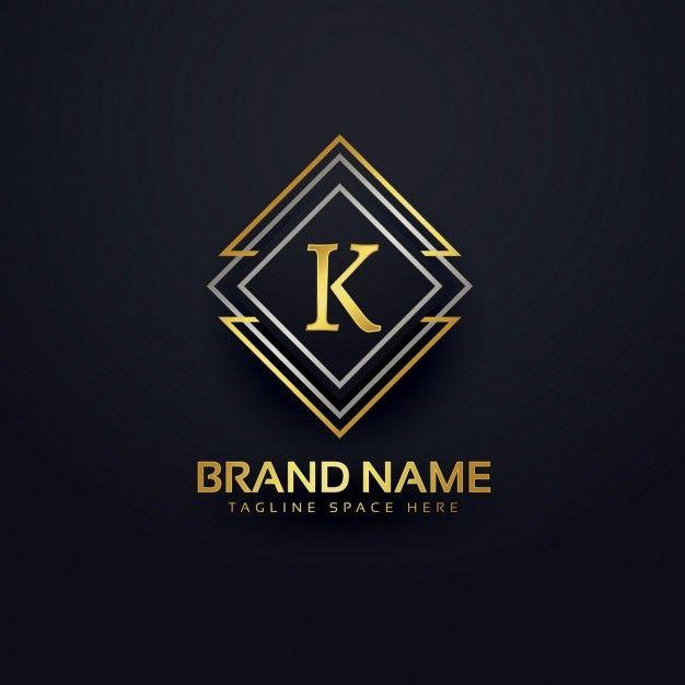 Luxus-Logo für den Buchstaben k Kostenlose Vektoren