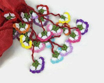 Crochet Necklace Blue Star Necklace Crochet Star by Nakkashe