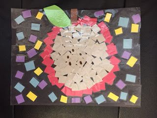 Sliding into First!: apple study, apples, art project, first grade, fall