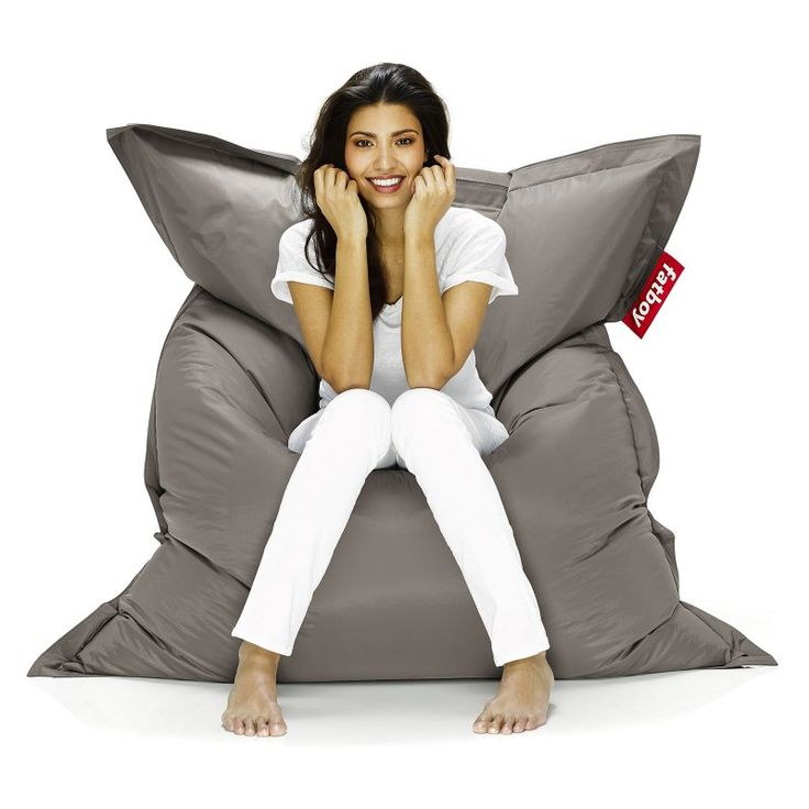 Fatboy Original 6-Foot Extra Large Bean Bag Chair Taupe - ORI-TPE