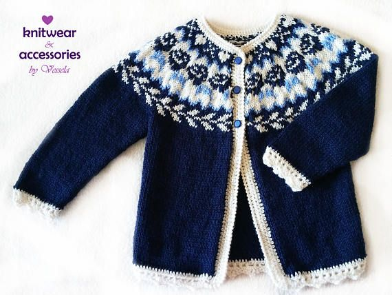 Children's cardigan Lady wool vest for children Jacquard