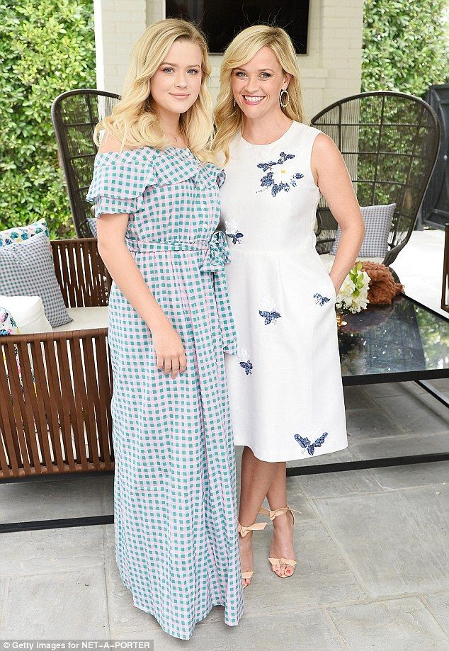 Mini me: Reese pictured with her 17-year-old daughter Ava at the NET-A-PORTER X Draper Jam...
