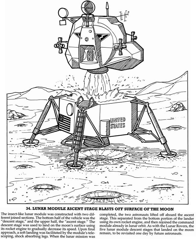 free apollo 11 coloring pages - photo#28