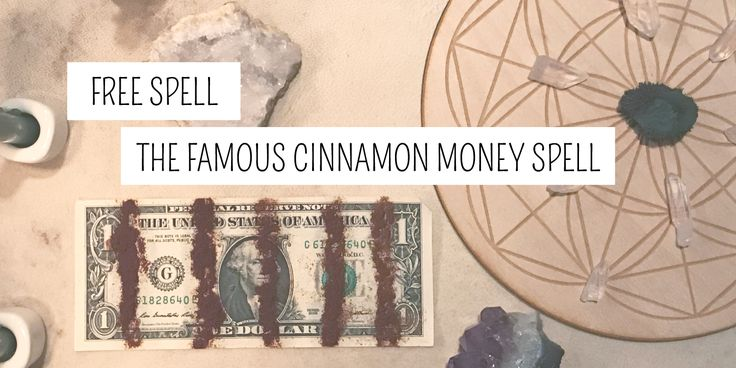 Need a free money spell that works? This easy, fast money spell only uses three items: a dollar bill, cinnamon, and water. This is one of Aurora Moone's favorite spells because not only did it work for her, it also worked for at least 50 people in her immediate community! The trick to this spell is to really, really, really passionate! Wicca Wiccan Free Money Spells Pagan Paganism | #PlentifulEarth