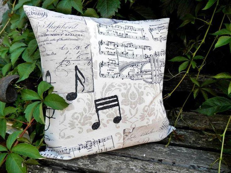 Kissen Musik Noten von Patchwork auf DaWanda.com