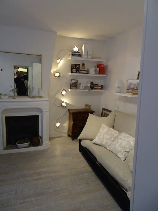 "Apartment in Paris, France. Just renovated, our ""studio"" is large (30sqm), romantic, comfortable and quiet. In a lovely small street cross St. Germain, it is very close to the Metro/RER St. Michel. Separate kitchen and very comfortable sofa bed (for 2) and armchair bed (for ..."