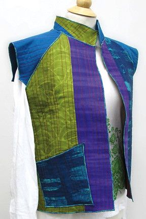 Jean Wells Color Play Vest Pattern - http://www.pinterest.com/stitchinpostor