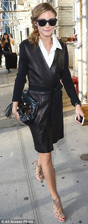 Olivia Palermo was spotted leaving the DVF show #nyfw #ss15