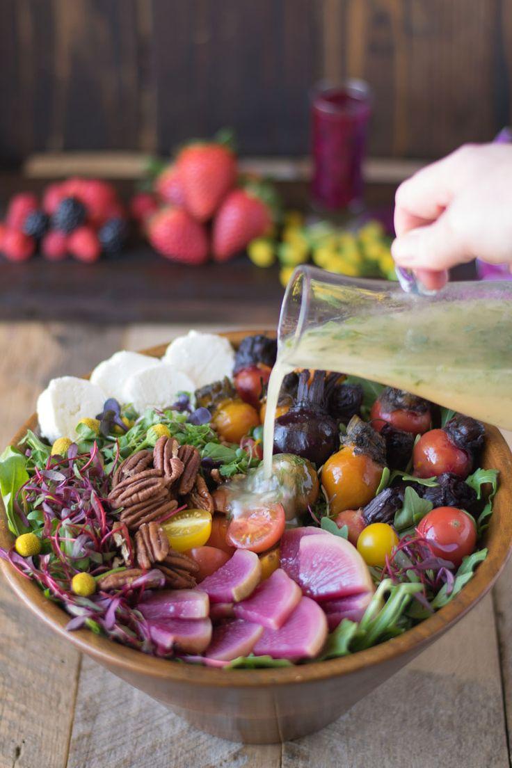 Root Vegetable Salad with Lemon Herb Vinaigrette is a