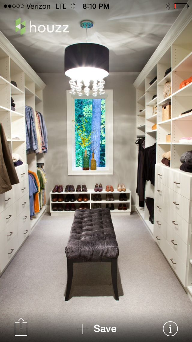 22 best walk in closet designs images on pinterest walk for Best walk in closets in the world