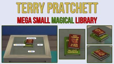 Mod The Sims - Terry Pratchett Mega Small Magical Library