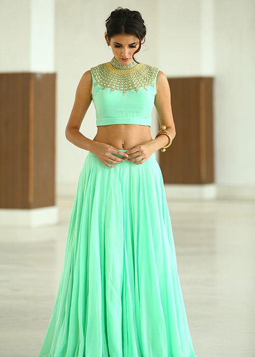 MONSOON WEDDING: a beautifully grounded collection in stunning pastels by HARSHITAA CHATTERJEE DESHPANDE. Shop now at: http://www.perniaspopupshop.com/