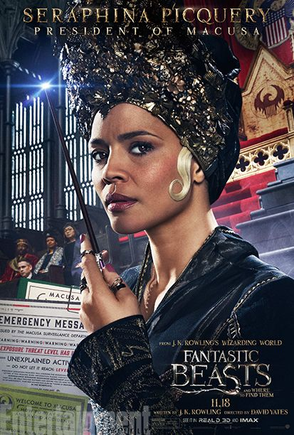 Carmen Ejogo as Seraphina Picquery  #FantasticBeasts