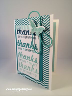 Fabulous Four Thank You Card & matching envelope, Kinda Eclectic, Stampin' Up!