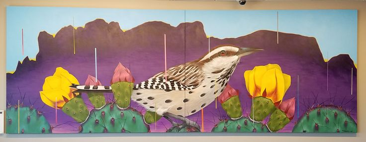 Cactus Wren painting at Fry's Food And Drug, Apache Junction, Arizona