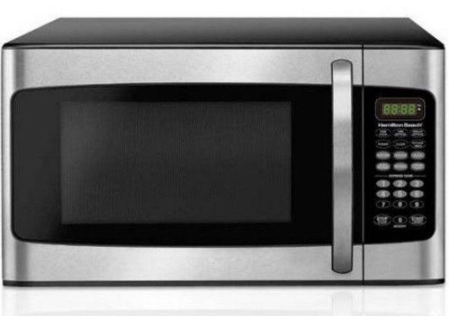 Hamilton Beach 1.1 Cu Ft Microwave Oven 1000 Watt Countertop Stainless Steel BLK #HamiltonBeach