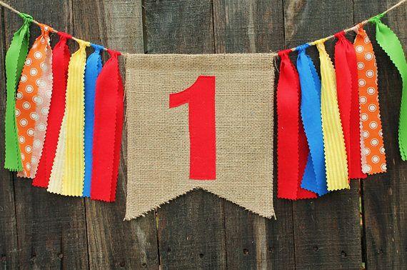 Bandera de encargo de arpillera cumpleaños bandera del