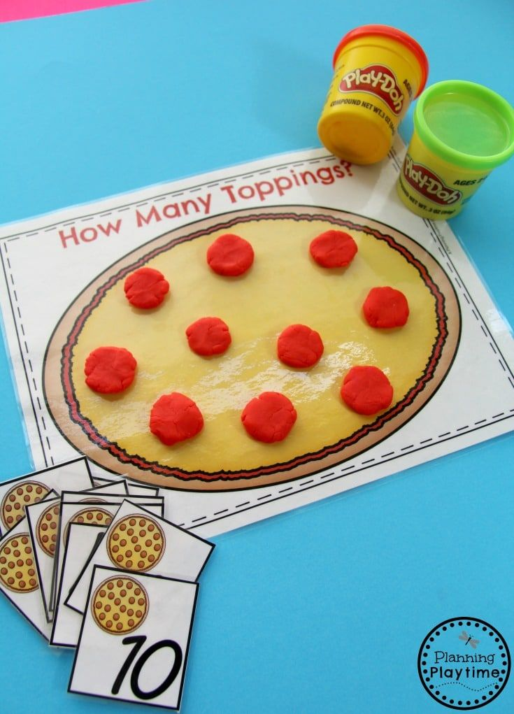 Fun Pizza Counting Activity for Kids.