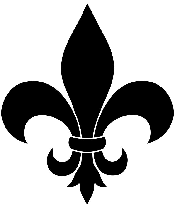 The fleur de lis, a symbol of Gallic pride, in graphic black and white