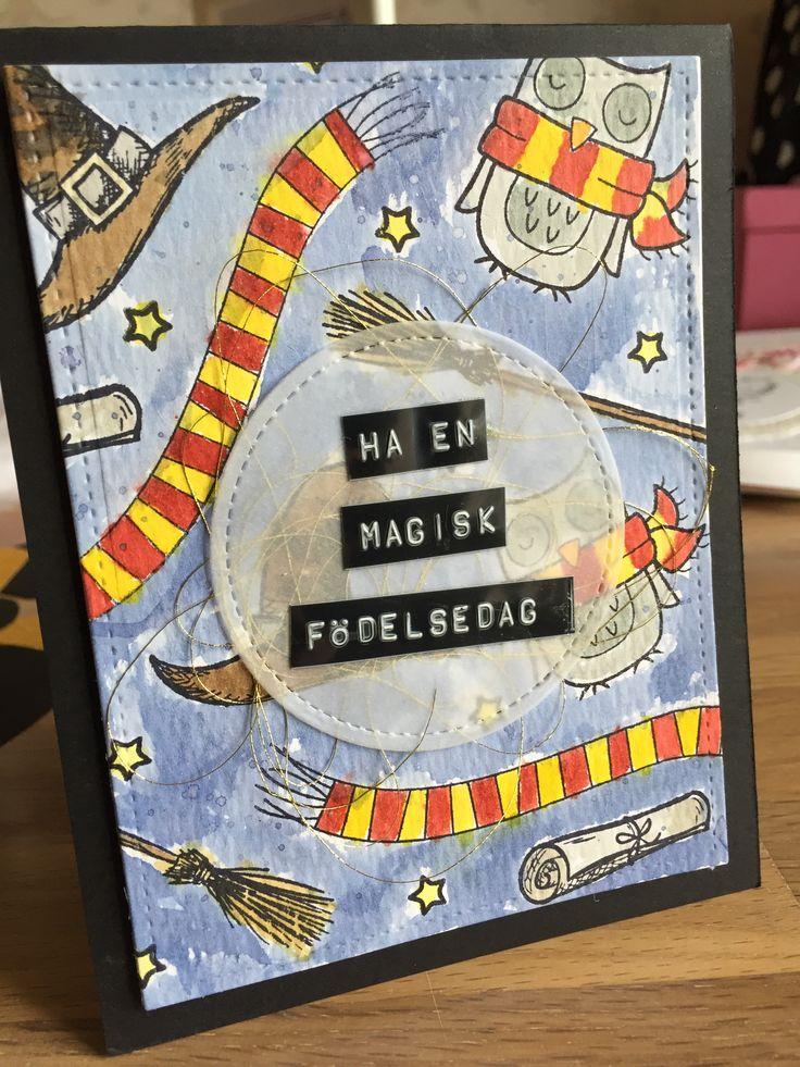 harry potter birthday card  carinpysslarwordpress
