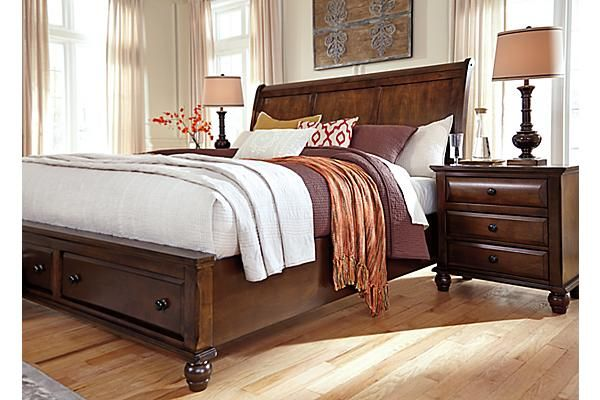 ashley furniture sleigh bed with drawers 1