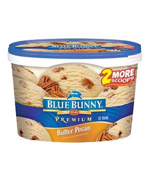 The Best Ice Cream Flavors per Real Simple --  Best Budget Butter Pecan  Blue Bunny Butter Pecan  Light, fluffy, and chockablock with chewy nuts, this freezer mainstay may also be the best bang for your buck.