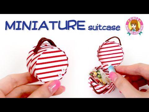 미니어쳐 여행 가방 만들기 MINIATURE suitcase / 딩가의 회전목마 - YouTube
