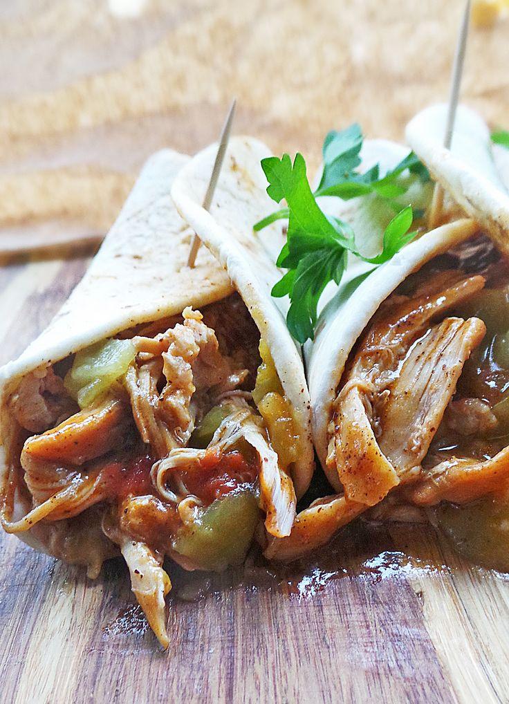 Braised Chicken Enchilada Tacos | Recipe