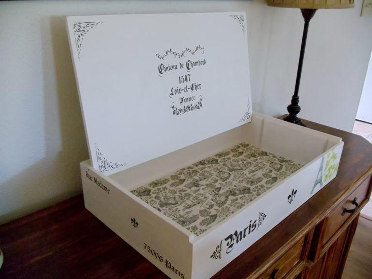 17 best images about cajitas on pinterest tea box - Cajas de vino para decorar ...
