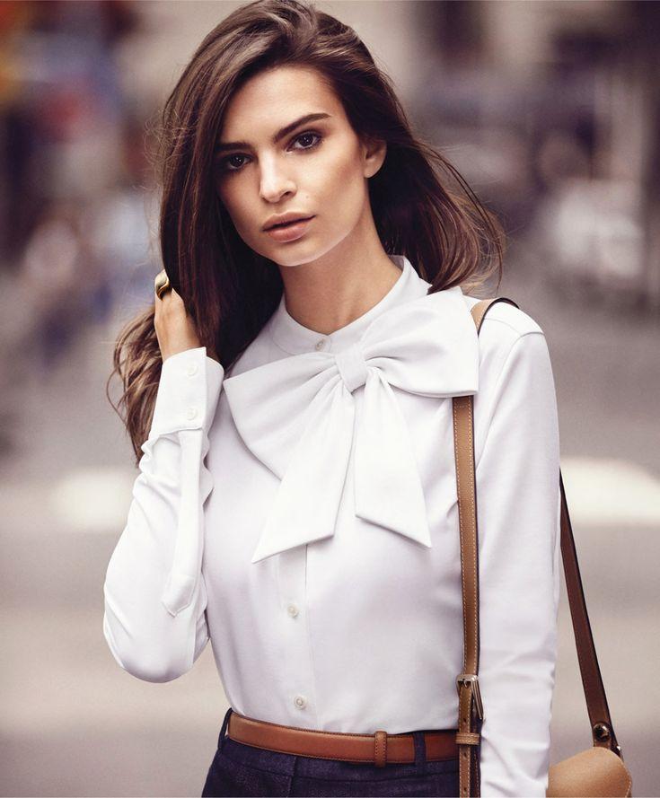 02-Em Ratajkowski by Will Davidson for Harpers Bazaar September 2015-This Is Glamorous. Gorgeous blouse for work.