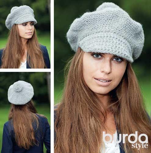 Женская кепка - схема вязания крючком. Вяжем Кепки на Verena.ru