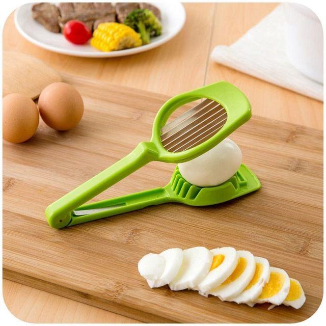 Nova Cozinha Ferramenta Multifuncional Ferramenta de Salada de aço Inoxidável Fatiador de Frutas Corte Fantasia Ovo Corte Artefato Flap