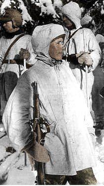 Simo Hayha – Finnish sniper in color, pin by Paolo Marzioli