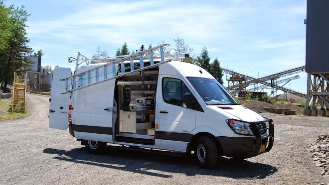 Van Shelving and Interiors | Ladder Rack for Vans  http://www.commercialvanshelving.com