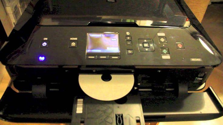 CANON PIXMA MG5450 DVD/CD bedrucken - Direct Disc Print - Direkt CD DVD ...