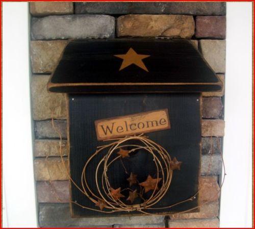 cassette postali mailbox : ... www.etsy.com/listing/128625215/primitive-wooden-wood-mailbox-mail-box