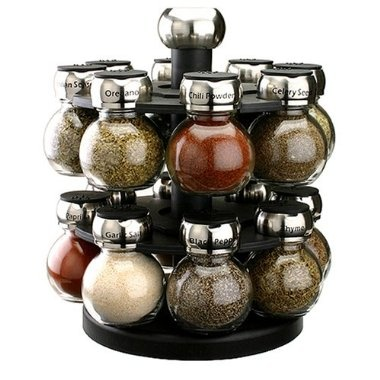...round & rotating Spice rack...love this rack and use it every day