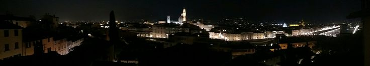 The view from our killer #AirBnB apartment in Florence, just before the surprise fireworks! :-)